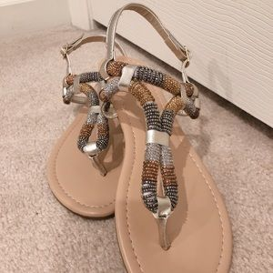 Beaded Flat Sandal